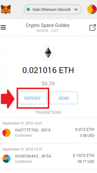 Deposit Ether Options