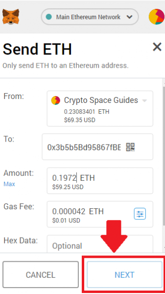 Send/Withdraw ETH