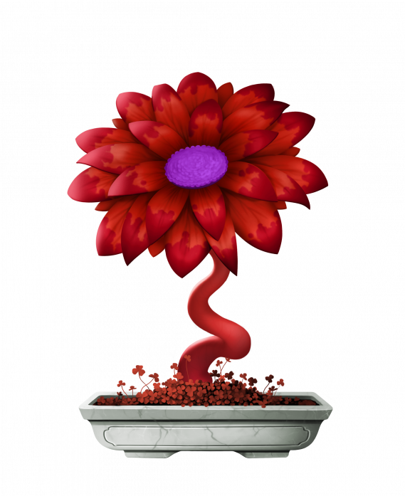 Cryptoflowers Red Widow Grow And Collect Digital Crypto